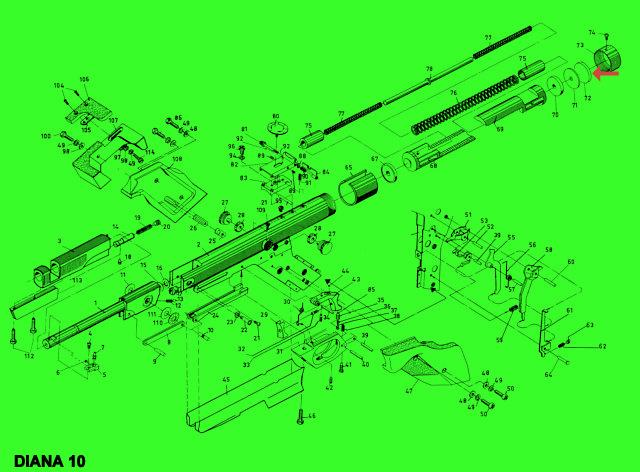diana 10 ersatzteile 30106900 vulkollanscheibe jagd und sportwaffencenter gotha. Black Bedroom Furniture Sets. Home Design Ideas