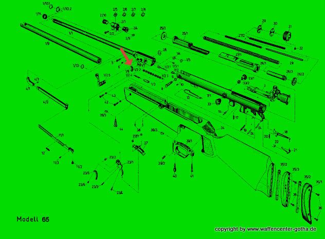 diana 65 luftgewehr ersatzteile 30060900 tellerfed jagd und sportwaffencenter gotha. Black Bedroom Furniture Sets. Home Design Ideas