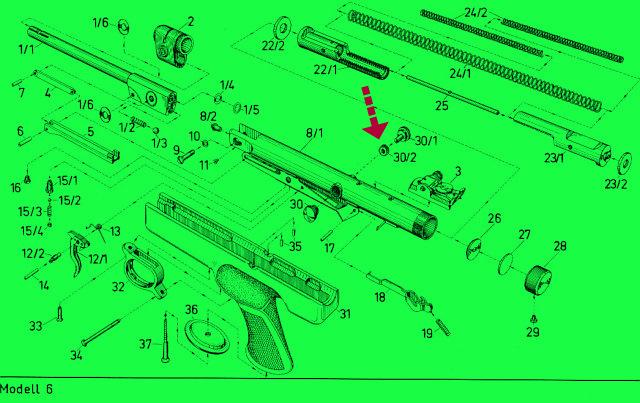 diana 6 ersatzteile 30071900 stirnrad luftpistole knicklauf doppelkolben schie en diabolo jagd. Black Bedroom Furniture Sets. Home Design Ideas
