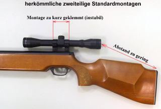 Haenel super ersatzteil zielfernrohrmontage luftgewehr