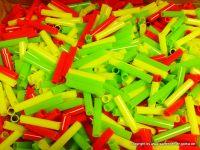 Plastik-Röhrchen (farbig) für Schießbude & Freizeit (Länge 4cm)