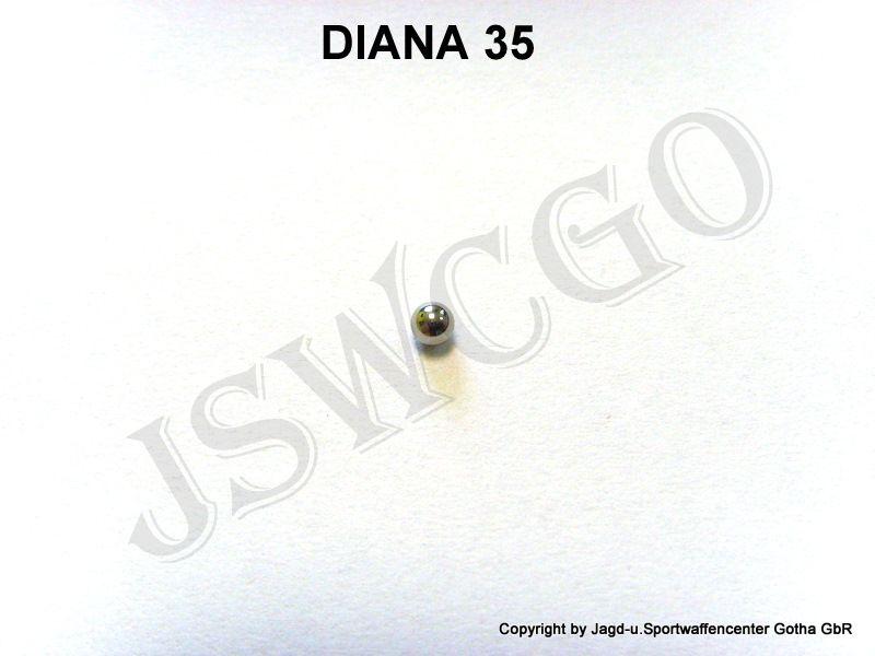 diana 35 ersatzteile 30033700 stahlkugel f r federst tze luftgewehr knicklauf federdruck jagd. Black Bedroom Furniture Sets. Home Design Ideas