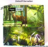 Zellstoff-Servietten Hirsch+Wald