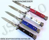 STILETTO-Springmesser blau,rot,weiß und schwarz -P18-