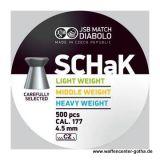 JSB >SCHaK - Middle Weight< Diabolo 4,5mm (500 Stk.)